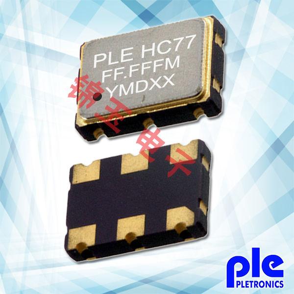 Pletronics晶振,贴片晶振,PE77D晶振