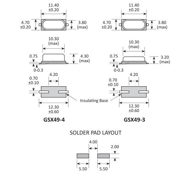 高利奇晶振,贴片晶振,GSX49-4晶振