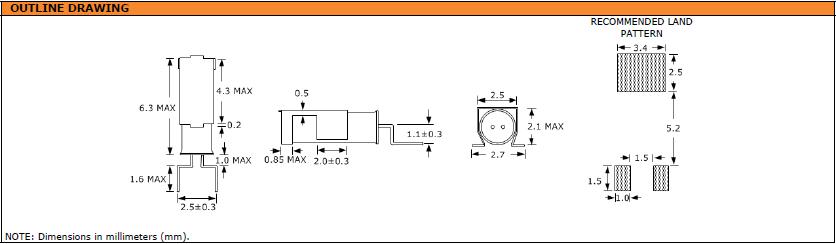 Suntsu晶振,石英晶振,SWG6J2晶振,鸥翼SMT表晶