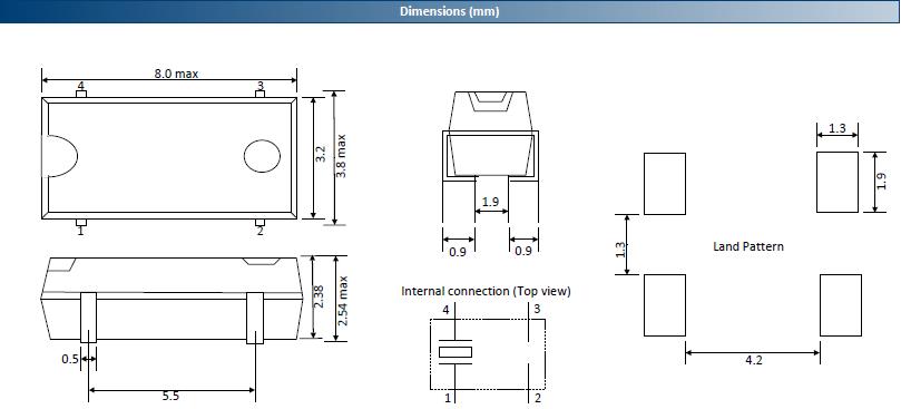 ACT晶振晶振,贴片晶振,200A晶振,8038表贴式表晶