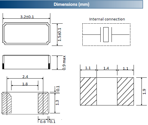 ACT晶振,贴片晶振,3215A晶振,工业用音叉晶体