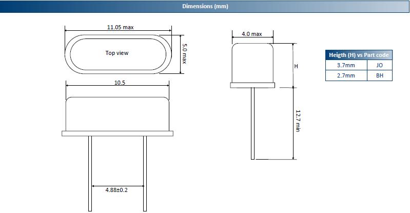 ACT晶振,石英晶振,HC49US晶振,插件型无源晶振