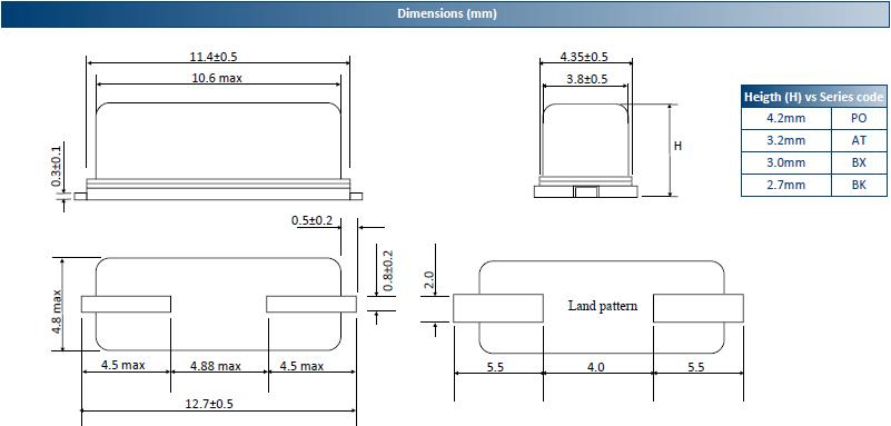 ACT晶振,贴片晶振,HC49US‐SMX晶振,薄型49SMD晶体